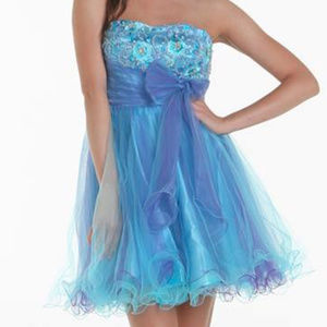 NWT Prom Cocktail Strapless Dress size small